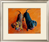 Double Dachsies Posters by Robert Mcclintock