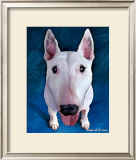Bull Terrier Bronson Print by Robert Mcclintock