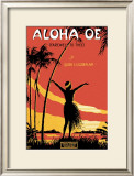 Aloha Oe Music Sheet Posters by LeMorgan 