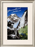 Glarnerland & Walensee Framed Giclee Print by Herbert Matter