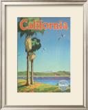 Santa Fe Railroad: California, Pacific Coastline and Spanish Mission Art by Oscar M. Bryn