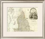 England and Wales (Northern section), c.1790 Framed Giclee Print by John Rocque