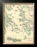 Grecian Archipelago, Ancient, c.1843 Framed Giclee Print by William Smith