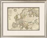 L'Europe sous l'Empire de Charlemagne, c.1826 Framed Giclee Print by Adrien Hubert Brue
