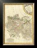 Russia Occidentale, c.1785 Framed Giclee Print by Rigobert Bonne