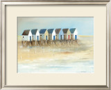 Beach Cabins I Posters by Jean Jauneau