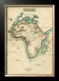 Africa, c.1820 Framed Giclee Print by John Melish