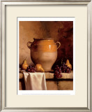 Confit Jar with Pears and Grapes Prints by Loran Speck