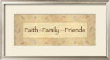 Faith, Family, Friends Shell Art by  Bell
