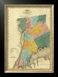 New York, Westchester County, c.1829 Framed Giclee Print by David H. Burr