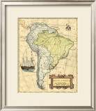 South America Map Prints