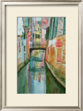 Boat Under the Bridge Prints by Mary Stubberfield