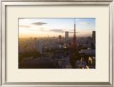 Tokyo Tower: Evening of Spring Print by Takashi Kirita