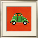Green Car Art by Simon Hart