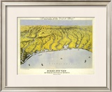 Texas and Part of Mexico, c.1861 Framed Giclee Print by John Bachmann