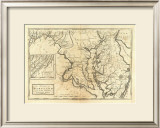 State of Maryland, c.1795 Framed Giclee Print by Mathew Carey