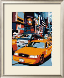 Taxi, New York Poster by Giovanni Manzo