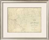 Map of New Orleans and Adjacent Country, c.1824 Framed Giclee Print by John Melish