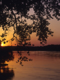 Sunset over the Missouri at Indian Cave State Park, Nebraska, USA Photographic Print by Chuck Haney