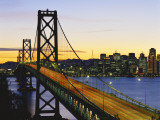 Oakland Bay Bridge at Dusk, San Francisco, California, USA Photographic Print by David Barnes