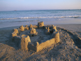 Sandcastle at Beach Photographic Print by David Barnes