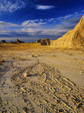 Cracked Mud in Badlands National Park, South Dakota, USA Photographic Print by Chuck Haney