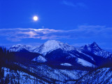 Full Moonrise over the Cloudcroft Peaks in Glacier National Park, Montana, USA Photographic Print by Chuck Haney
