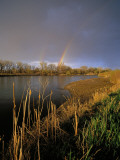 Rainbow over the North Platte River, Nebraska, USA Photographic Print by Chuck Haney