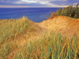 Sand Dunes Along Lake Superior at Pictured Rocks National Seashore, Grand Marais, Michigan, USA Photographic Print by Chuck Haney