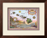 Map of Old Hawaii Prints by Steve Strickland