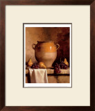 Confit Jar with Pears and Grapes Print by Loran Speck
