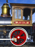 Old Fashioned Steam Train at Golden Spike National Historic Site, Great Basin, Utah Photographic Print by Scott T. Smith