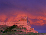 Stormy Light on Scottsbluff National Monument, Nebraska, USA Photographic Print by Chuck Haney