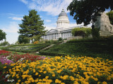 Utah State Capitol Building and Garden, Salt Lake City, Utah, USA Photographic Print by Scott T. Smith