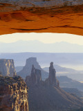 Airport Tower and La Sal Mountains Through Mesa Arch, Canyonlands National Park, Utah, USA Photographic Print by Scott T. Smith