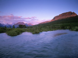 Sunrise over the St Mary River and Singleshot Mtn. in Glacier National Park, Montana, USA Photographic Print by Chuck Haney