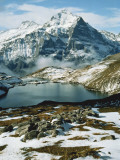 View of Wetterhorn Mountain and Bachsee Lake, Bernese Alps, Grindelwald, Switzerland Photographic Print by Scott T. Smith