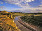 Little Missouri River in Theodore Roosevelt National Park, North Dakota, USA Photographic Print by Chuck Haney