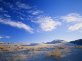 Cirrus Clouds Above Sand Dunes, Salt Wells Basin, Great Basin, Nevada, USA Photographic Print by Scott T. Smith