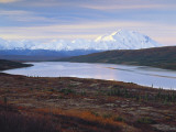 View of Wonder Lake with Mt. Mckinley, Denali National Park, Alaska, USA Photographic Print by Hugh Rose