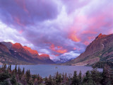 Spectacular Sunrise over Wild Goose Island in Glacier National Park, Montana, USA Photographic Print by Chuck Haney