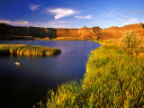 Small Pond Below the Dry Falls in the Scablands, Coulee City, Washington, USA Photographic Print by Chuck Haney