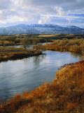 River Flowing Through Landscape, Bear River, Bannock Range, Cache Valley, Great Basin, Idaho Photographic Print by Scott T. Smith
