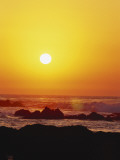 Offshore Rocks at Sunset, Pacific Grove, Monterey Peninsula, California, USA Photographic Print by Stuart Westmoreland