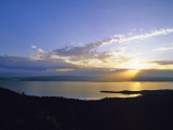Sun Sets over Flathead Lake, Montana, USA Photographic Print by Chuck Haney