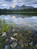 Stones Along Shore of Frog Lake with Mountain Peaks in Back, Sawtooth National Recreation Area, USA Photographic Print by Scott T. Smith