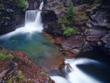 St Mary Falls in Glacier National Park, Montana, USA Stampa fotografica di Chuck Haney