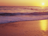 View of Beach at Sunset, Near Santa Cruz, California, USA Photographic Print by Stuart Westmoreland