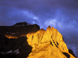 Little Chief Mountain Catches Morning Light in Glacier National Park, Montana, USA Photographic Print by Chuck Haney