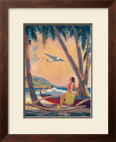Hawaiian Hula Girl Fantasy Print by Frederick Heckman